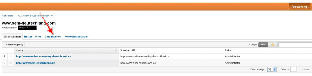 Lier Google Analytics et AdWords 1