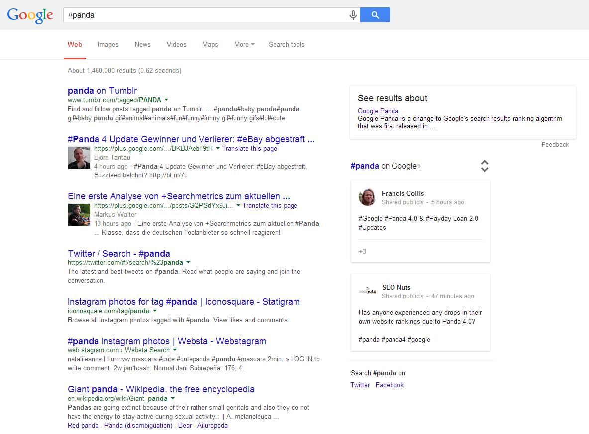 #panda Google Search