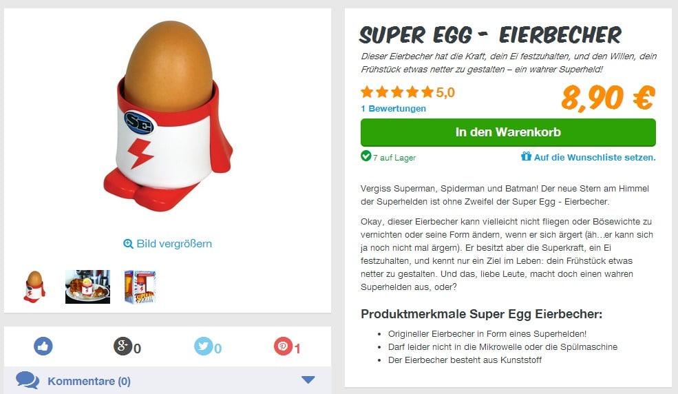 Super Egg Eierbecher   Der Superheld unter den Eierbechern