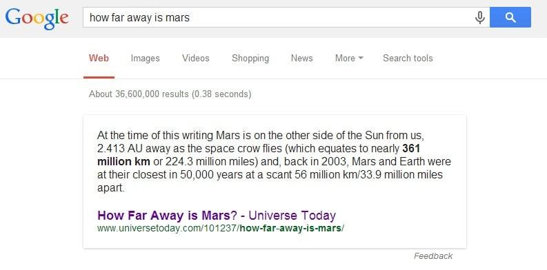 how far away is mars   Google Search