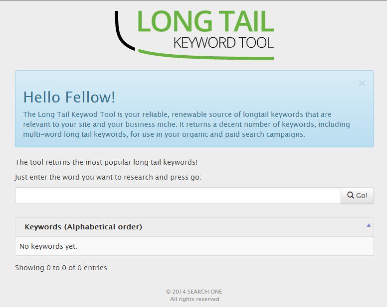 Interface Long-Tail-Keywordtool