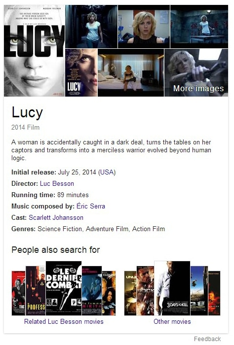 lucy movie entity box Recherche Google