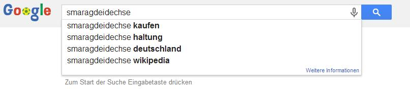 Google Suggest for Lézard émeraude