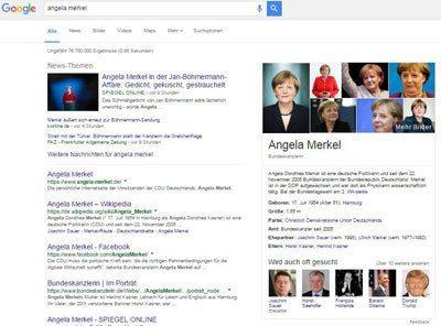 Google Entitäten-Box Angela Merkel