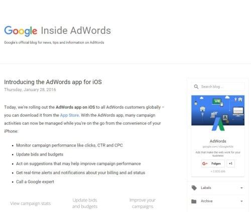 Google Inside AdWords