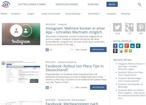 Screenshot Hutter Consult GmbH