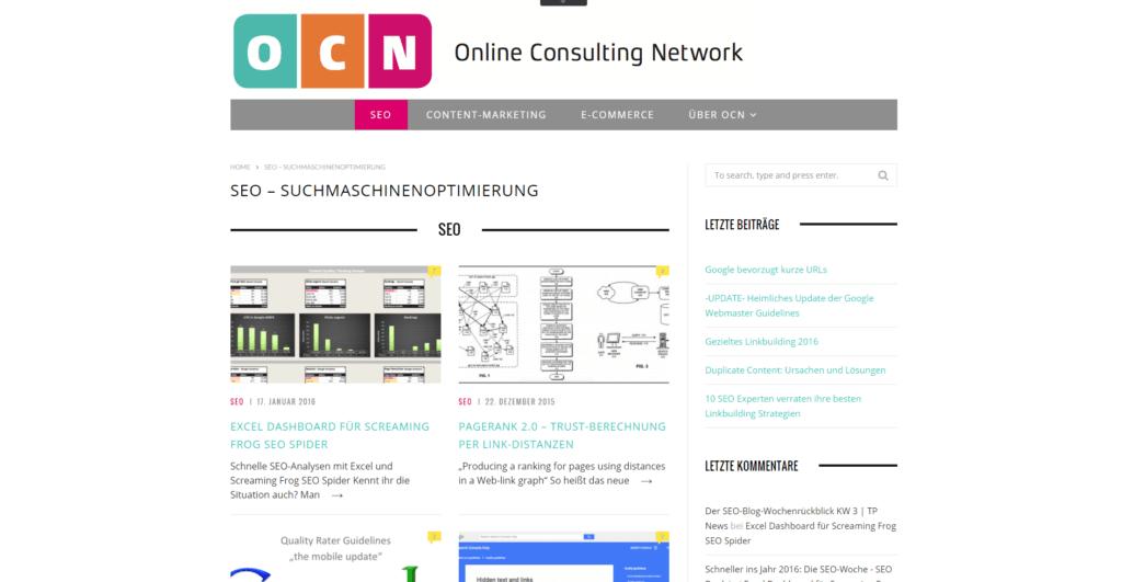 Screenshot OCN Blog