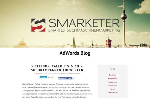 Screenshot Smarketer