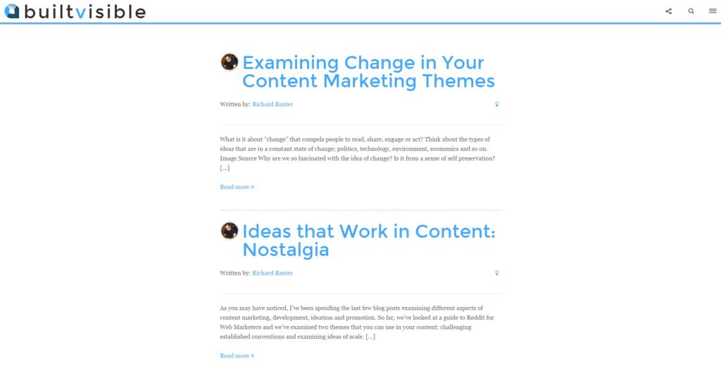 Screenshot builtvisible Blog