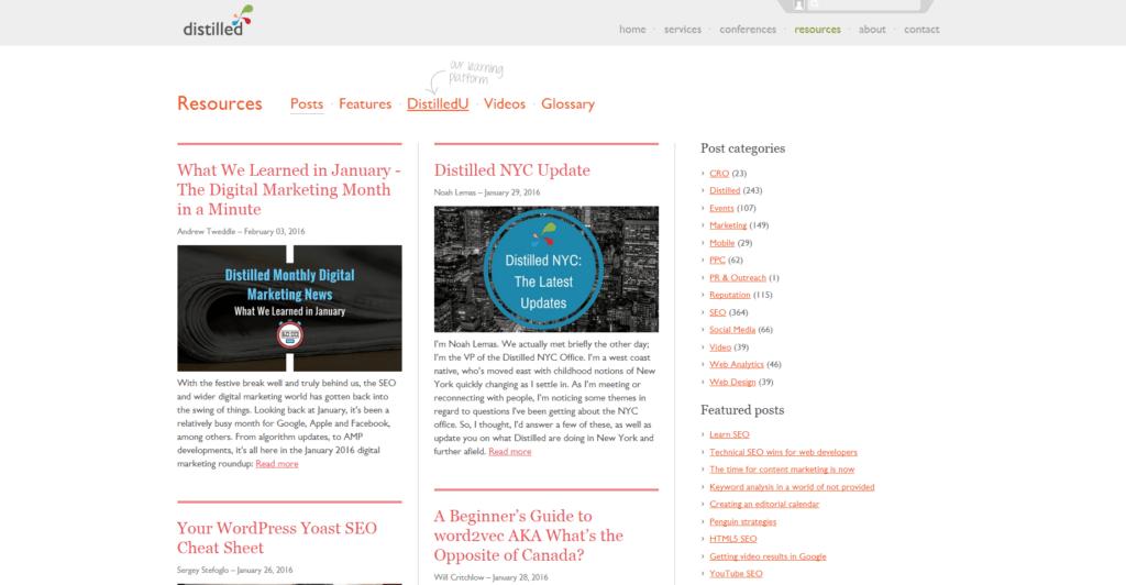 Screenshot distilled Blog