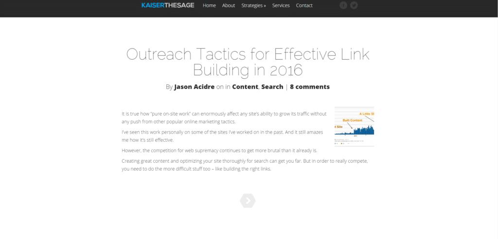 Screenshot Kaiserthesage Blog