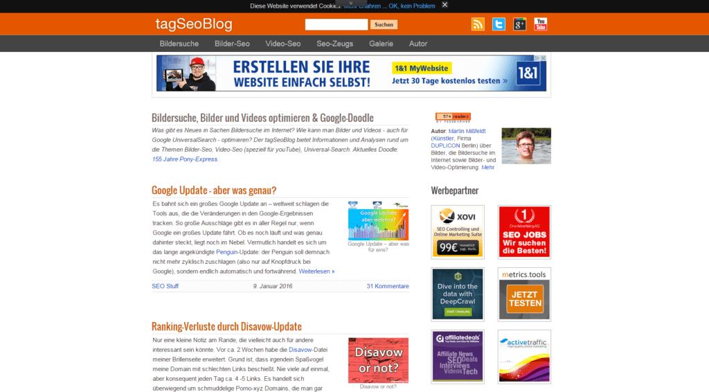 Screenshot tagSEOBlog