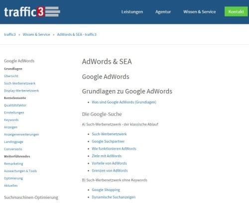 Screenshot traffic3.net-Blog