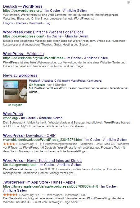 "Suchanfrage ""wordpress"" Standort: Montabaur"