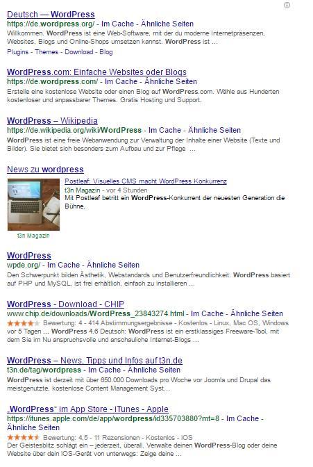 """Suchanfrage """"wordpress"""" Standort: Montabaur"""