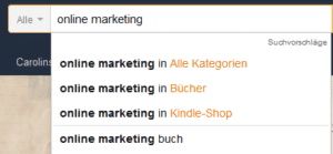 Keyword-Recherche: Amazon suggest
