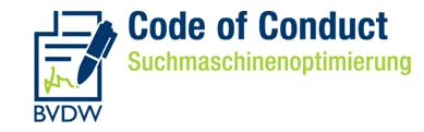 Figure 1: Sceau du code de conduite pour le référencement du BVDW