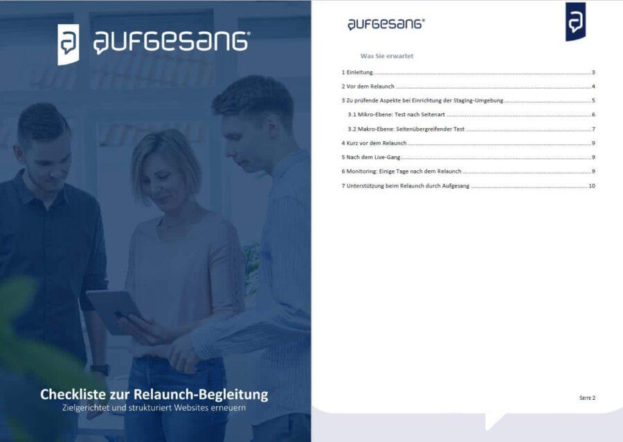 Relaunch-Checkliste Aufgesang